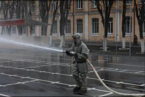 Военнослужащие РХБ защиты ЮВО провели специальную обработку воинских частей в Северной Осетии
