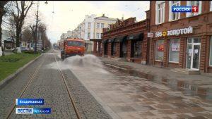 Улицы Владикавказа начали обрабатывать дезинфицирующим раствором
