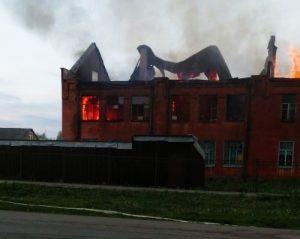 Сильный пожар произошел  в старой школе Сурх-Дигоры