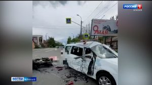 В ДТП во Владикавказе погиб мотоциклист, еще три человека госпитализированы