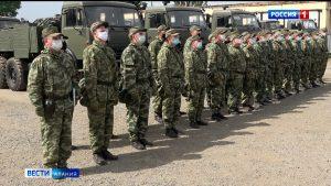 Отряд войск РХБЗ из Северной Осетии проведет дезинфекцию и санитарную обработку объектов в Дагестане
