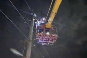 Энергетики восстанавливают нарушенное непогодой энергоснабжение в Северной Осетии