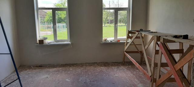 В станице Павлодольской продолжается капитальный ремонт Дома культуры