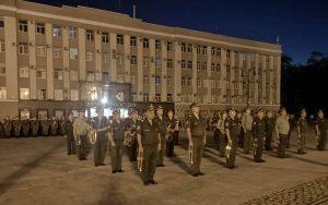На площади Свободы прошла первая ночная тренировка парадных расчетов 58-й армии