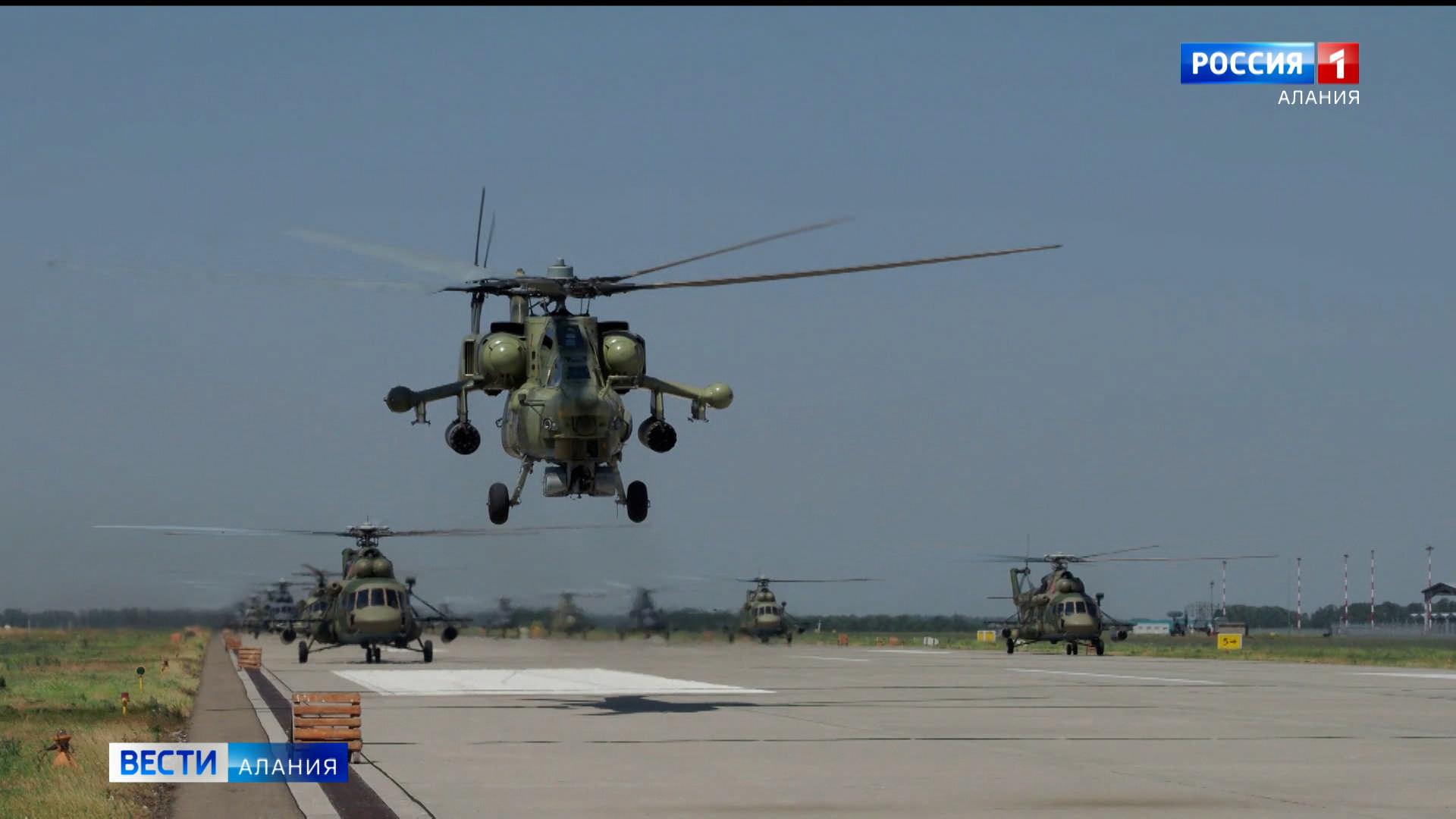 Экипажи боевых вертолетов ЮВО приступили к тренировкам перед воздушным парадом Победы 24 июня