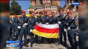 Выходцы из Осетии прошли в парадных расчетах разных городов страны
