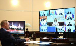 Вячеслав Битаров принял участие в видеоселекторном совещании под председательством Владимира Путина