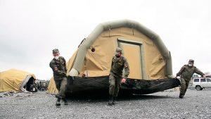 Медицинский спецотряд ЮВО в рамках внезапной проверки боевой готовности развернул полевой медицинский пункт в Северной Осетии