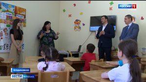 Русланбек Икаев посетил детскую развивающую студию «Фæндиаг»
