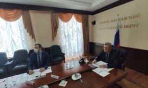 Юрий Чайка и Герман Греф обсудили вопросы социально-экономического развития субъектов СКФО с участием Сбербанка