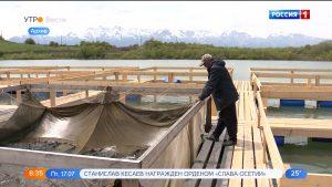 В селении Карджин началось строительство нового предприятия по производству товарной рыбы