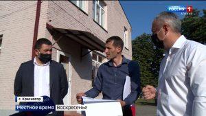 Таймураз Тускаев в очередной раз проверил как идут строительные работы на социальных объектах