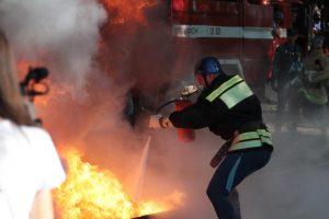 В Северной Осетии прошли соревнования по пожарно-спасательному спорту