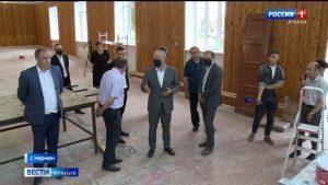 Таймураз Тускаев проверил ход строительства социально важных объектов Владикавказа и Пригородного района