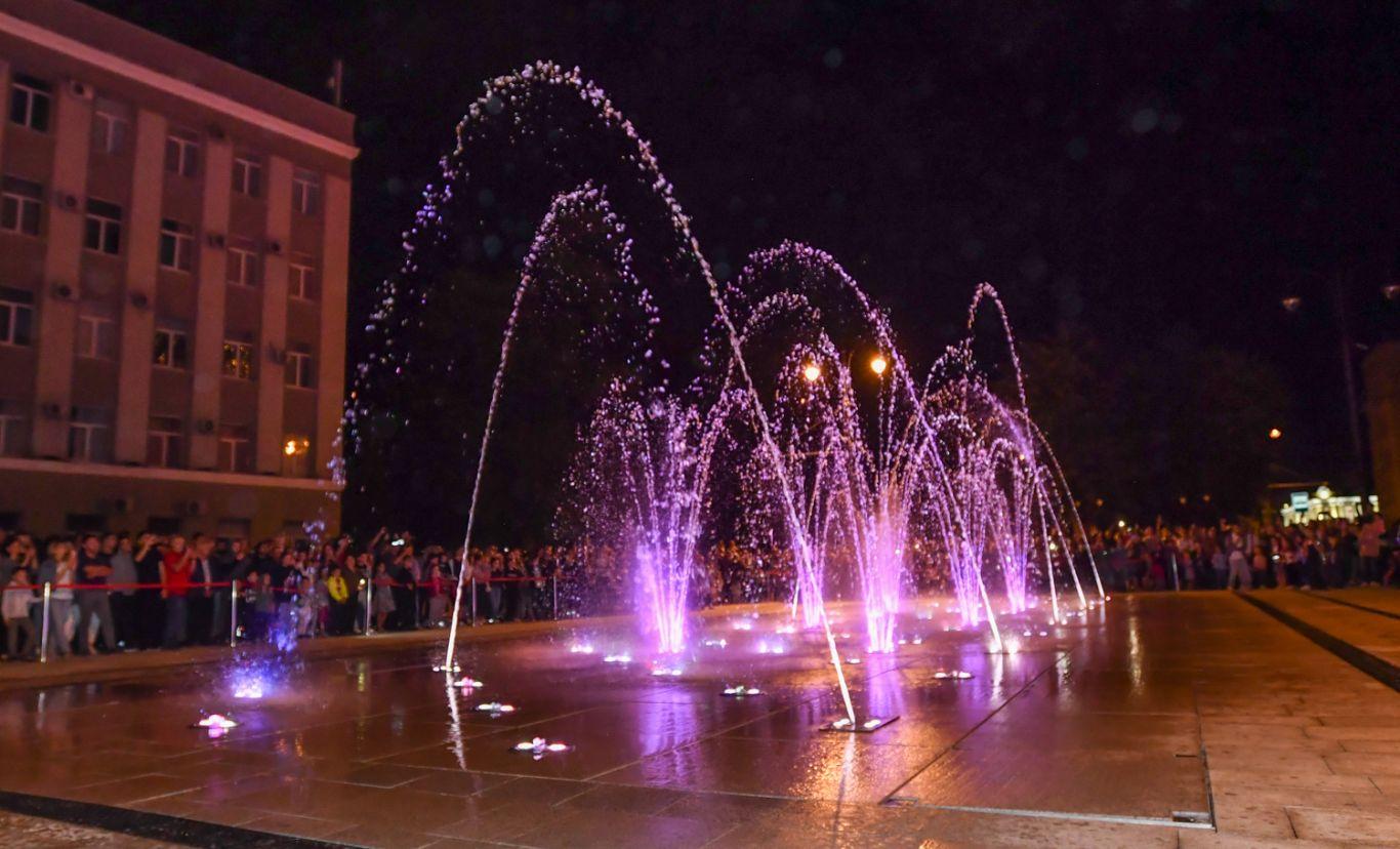 График работы фонтана  на площади Свободы ближайшие дни
