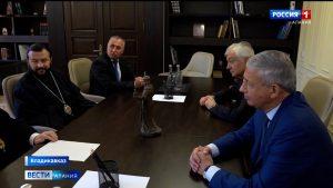 Вячеслав Битаров провел встречу с представителями православного духовенства