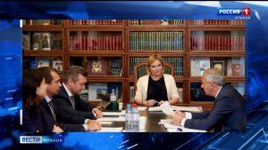 Вячеслав Битаров и Ольга Любимова  обсудили развитие культуры в Северной Осетии