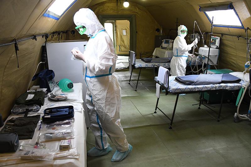 Российский военный госпиталь прибыл в Южную Осетию