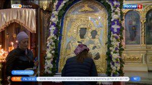 Икону Моздокской Божьей матери доставили в Ильинский храм Владикавказа