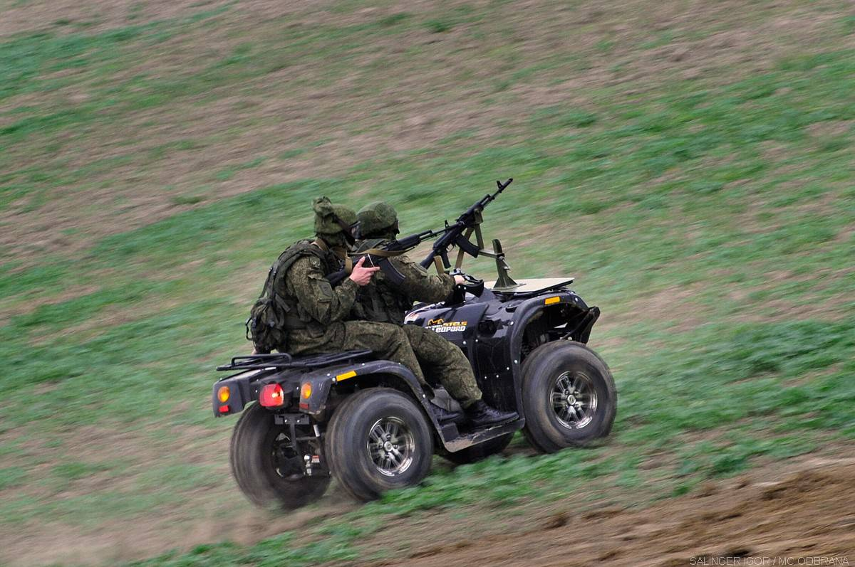 Разведчики приступили к занятиям с применением квадроциклов на полигоне «Дарьял»
