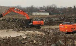 В Северной Осетии продолжаются берегоукрепительные работы