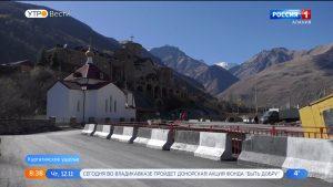 В Северной Осетии реконструируют мост через реку Фиагдон около мужского монастыря