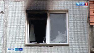 Специалисты устанавливают причины пожара в одном из многоквартирных домов Владикавказа
