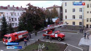 В общежитии СОГУ прошла тренировка по эвакуации студентов при пожаре