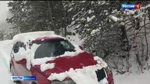 Первый снег выпал в горных районах Северной Осетии