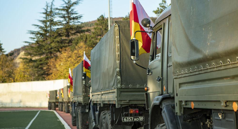 Российский мобильный ковид-госпиталь отправился из Южной Осетии к месту дислокации