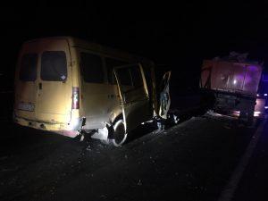 При столкновении «Газели» с «КамАЗом» на трассе Владикавказ — Алагир пострадали два человека
