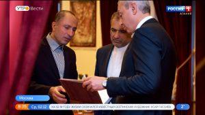 Борис Джанаев передал в дар послу Ирана книги Нартского эпоса на персидском языке