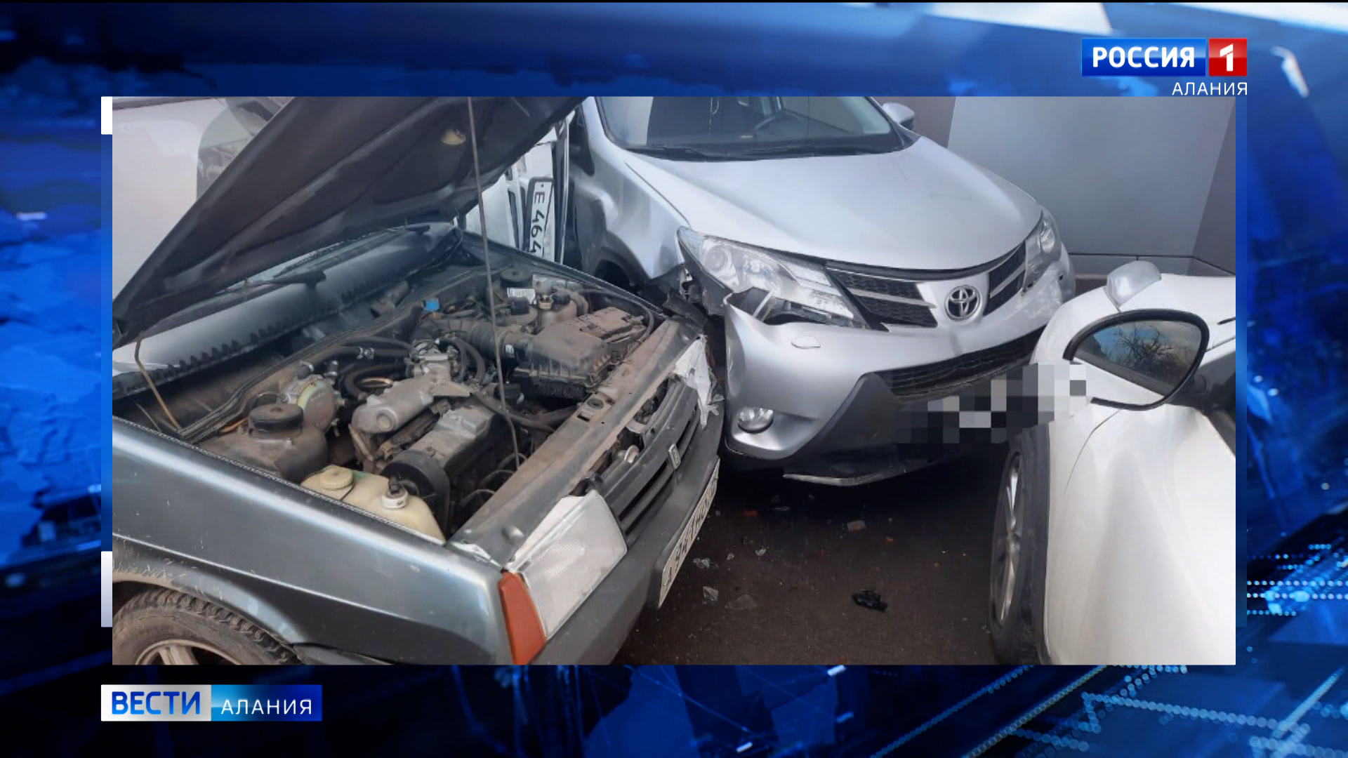 Во Владикавказе произошло ДТП с участием пяти автомобилей
