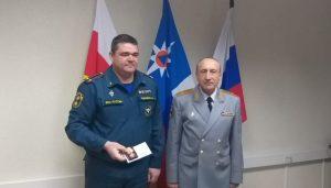 Глава МЧС по РСО-А Александр Хоружий поздравил личный состав с Днем защитника Отечества