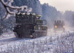 Расчеты зенитно-ракетных комплексов «Бук» уничтожили беспилотники «противника» в Северной Осетии
