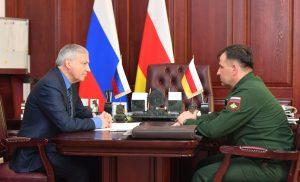 Вячеслав Битаров встретился с командующим 58-й армии Михаилом Зусько