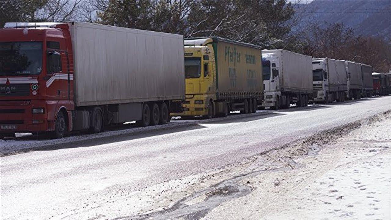 Военно-Грузинская дорога закрыта для большегрузов
