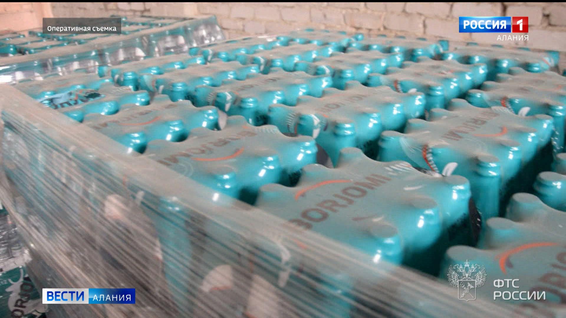 Североосетинские таможенники изъяли более 5 тысяч бутылок контрафактной минеральной воды