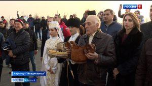 В Северной Осетии встретили чемпионов России по вольной борьбе