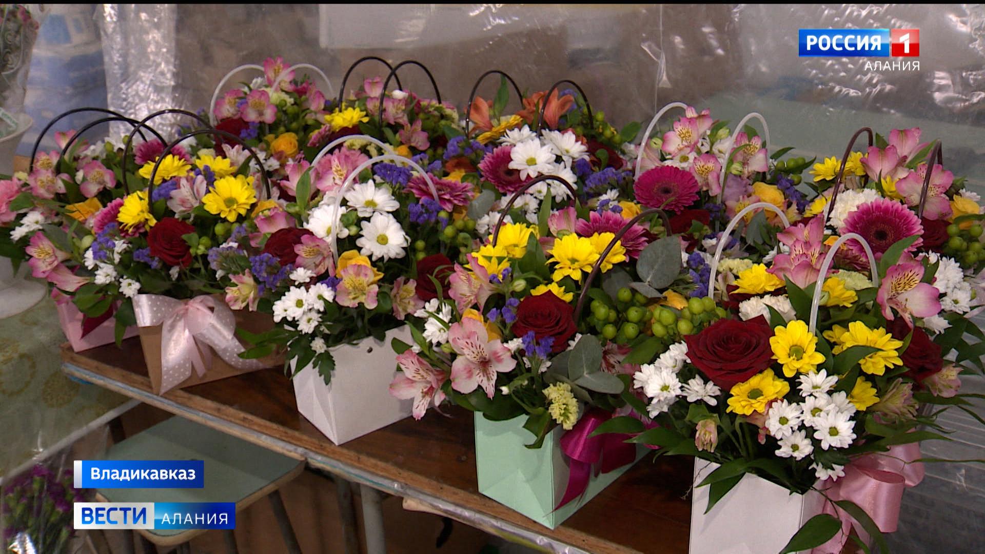 На 8 Марта в Северной Осетии не наблюдается дефицита цветов — флористы