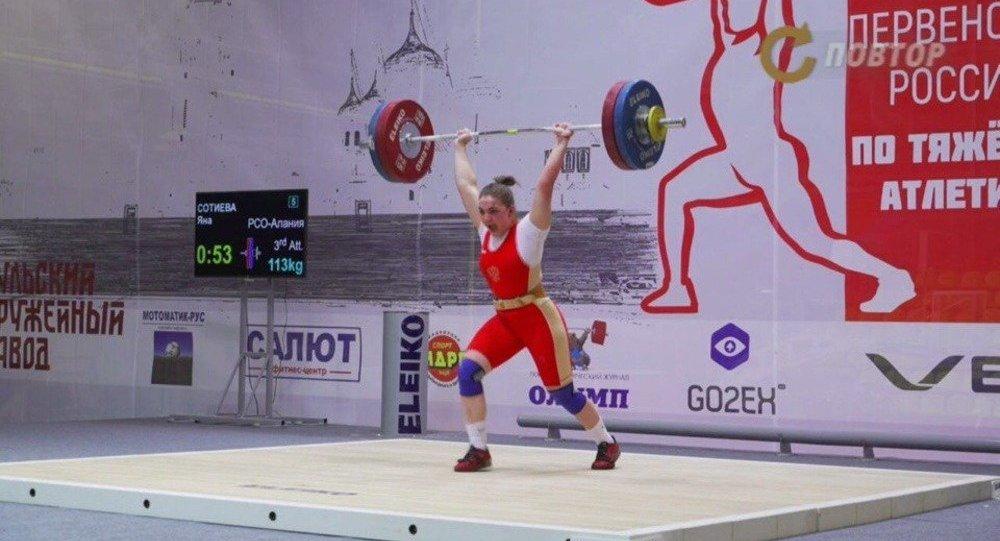 Тяжелоатлетка Яна Сотиева завоевала «серебро» чемпионата Европы