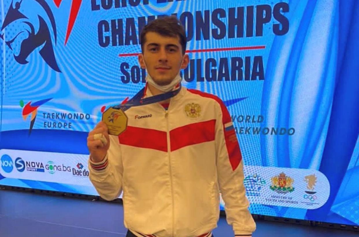 Сармат Цакоев — чемпион Европы по тхэквондо