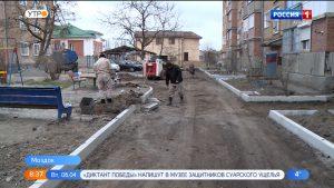 В Моздоке продолжается благоустройство общественных и придомовых территорий
