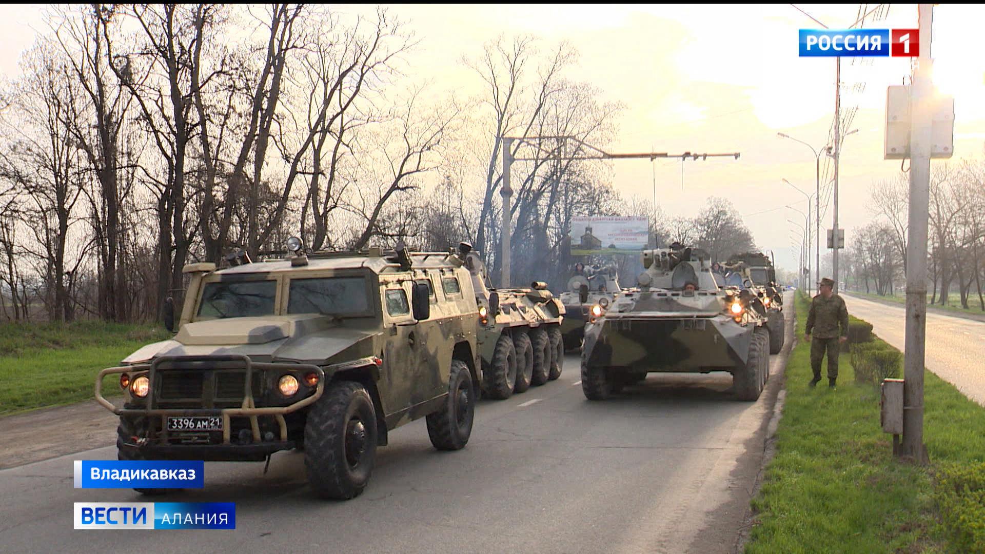 Во Владикавказе начались репетиции парада Победы