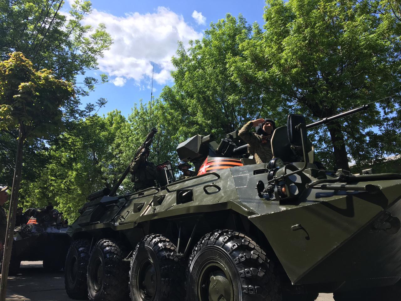 Во Владикавказе начался военный парад, посвященный 76-й годовщине Победы в Великой Отечественной войне