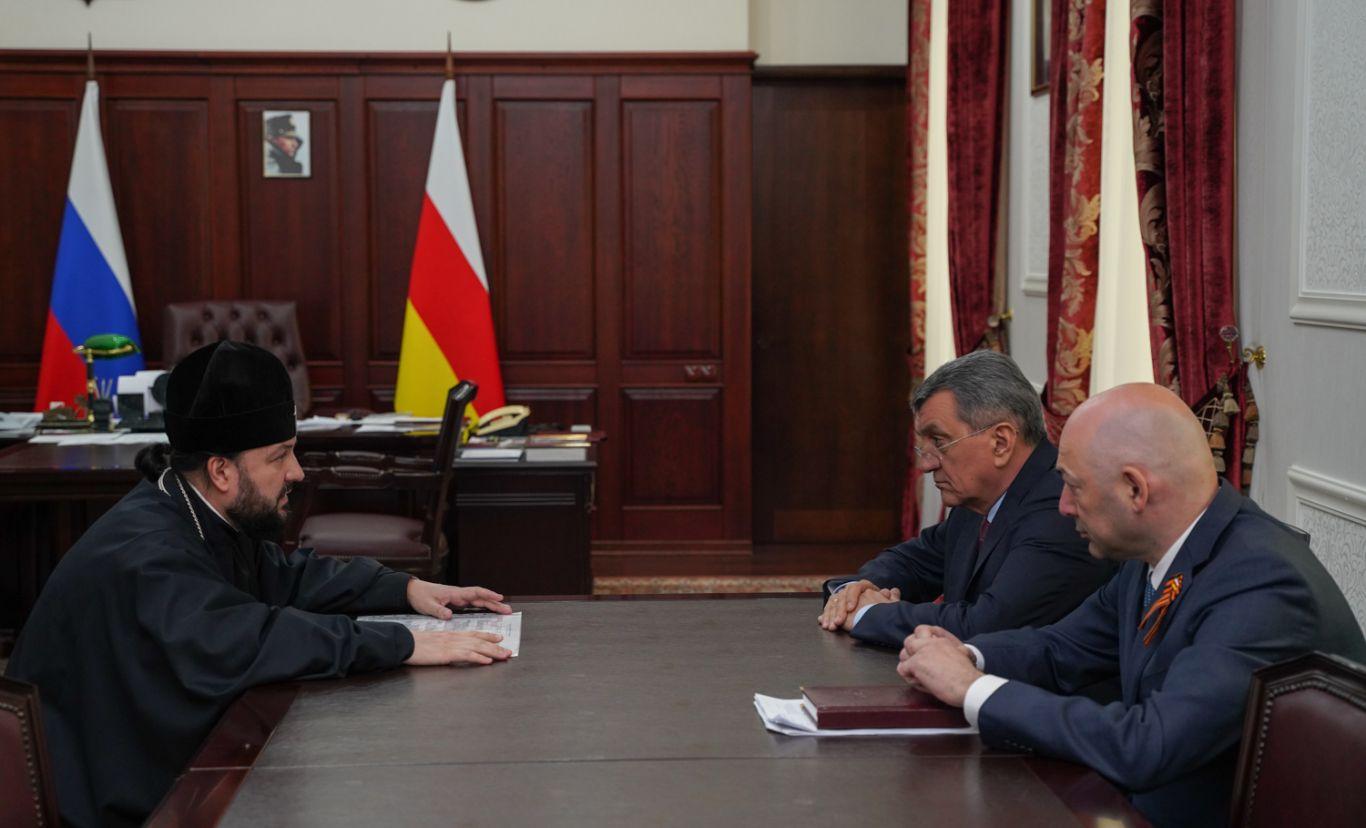 Сергей Меняйло обсудил с архиепископом Владикавказским и Аланским Леонидом подготовку к 1100-летию Крещения Алании