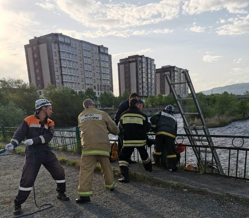 Во Владикавказе устанавливают личность мужчины, спрыгнувшего с моста в Терек